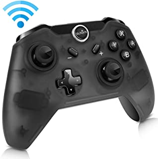 Sunjoyco Wireless Remote Controller Compatible with Nintendo Switch, Wireless Pro Controller Gaming Gamepad Joypad Compatible with Nintendo Switch Console, Gyro Axis Dual Shock (1-Pack Black)