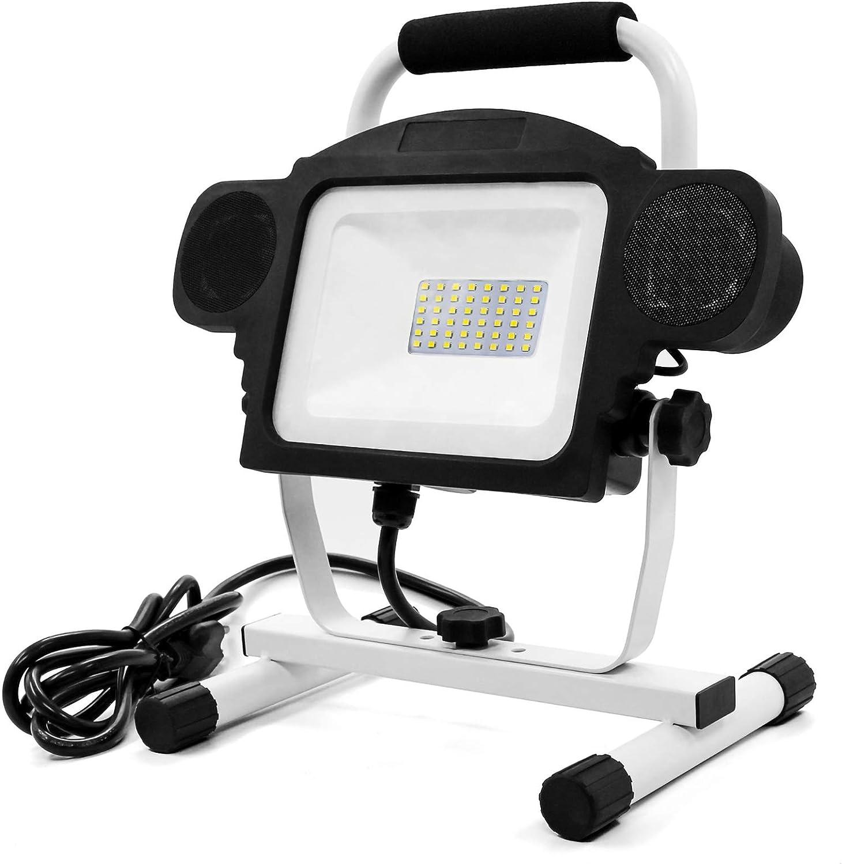 Applighting Work Light LED Max 53% OFF 50W 5000LM Sale item Portable Bluetooth Speake