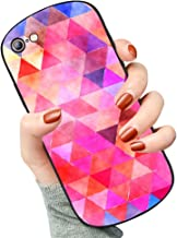 Case foriPhone 6/6S Plus Shield Series, Hard Plastic Back Cover Protective Case for Boy Geometric grids Triangle Design Colorful red Pink. Anti Drop