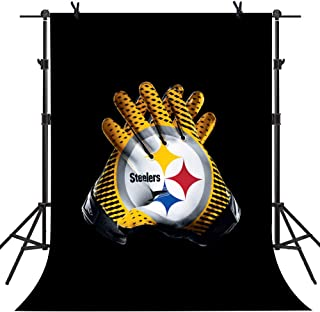 MME 8x10ft Pittsburgh Steelers American Football Super Bowl Theme Party VIP Custom Large Size Seamless Photo Studio Props HXME654