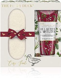 Baylis & Harding Fuzzy Duck Winter Wonderland Foot Set, Frosted Cranberry