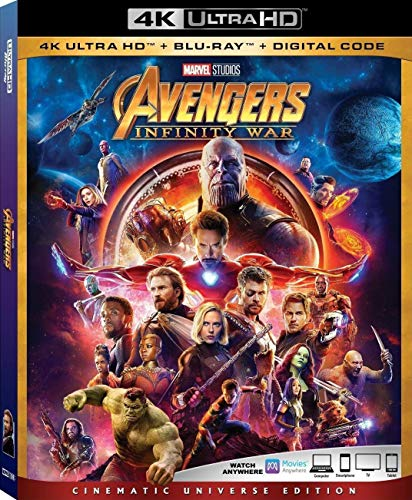 Find Bargain Avengers Infinity War 4K Ultra HD + Blu Ray + Digital Code [Blu-ray]