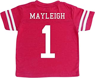 Custom Cotton Football Sport Jersey Toddler & Child Personalized with Name and Number
