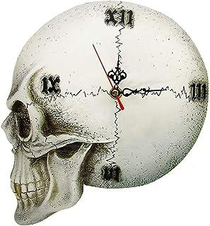 Malxs <br/>これらの不気味な頭蓋骨の時計であなたの残りの時間を常に監視してください。4つの恐ろしいタイムピースから選択できるので、魔女の時間を見逃すことはありません。スカルウォールクロックは、3つの針と頭蓋にローマ数字が表示された隆起...