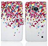 FoneExpert® Nokia Lumia 735 730 Handy Tasche, Wallet Hülle Flip Cover Hüllen Etui Ledertasche Lederhülle Premium Schutzhülle für Nokia Lumia 735 730 (Pattern 1)