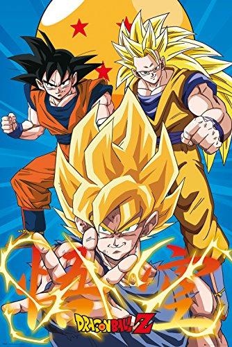 GB eye Póster Dragon Ball Z, 3 Gokus EVO, Madera, Varios, 65 x 3.5 x 3.5 cm