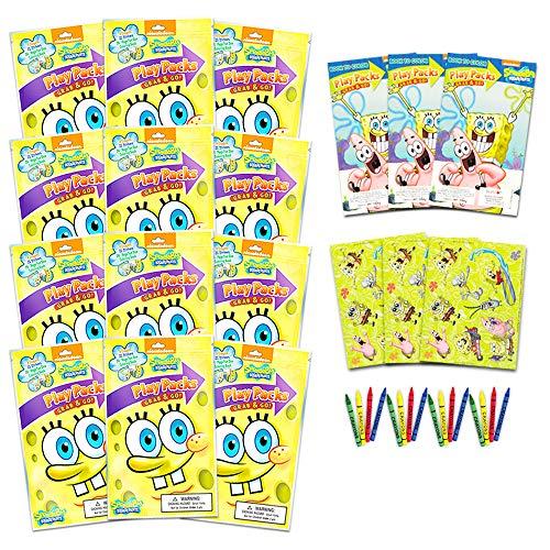 SpongeBob Coloring Book Party Favors (Bundle of 12)