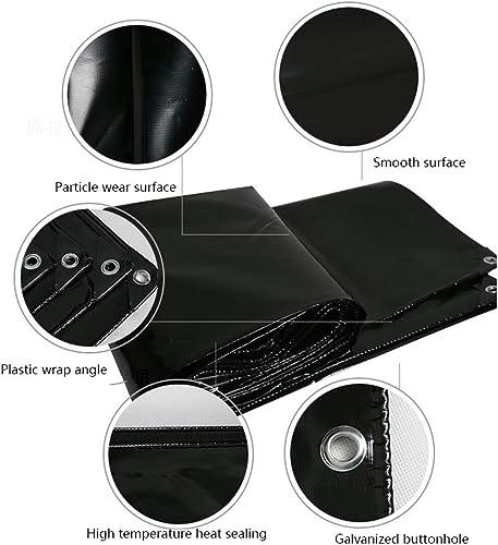 Tarpaulin Tissu Oxford Noir en PVC, bache résistante, baches imperméables épaisses, Housse de Prougeection Polyvalente en Poly, abri sous Tente