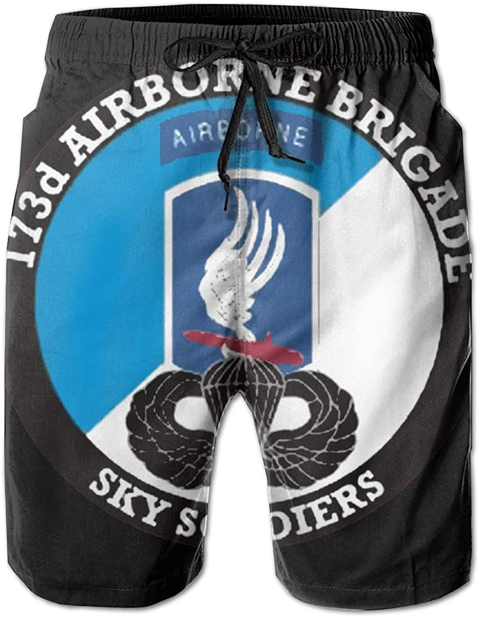 XDBJBJNSTDK Men Swim Trunks Max 51% OFF Quick Dry Army Board Ai 173rd Seasonal Wrap Introduction Shorts