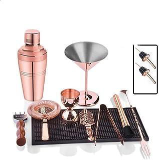 Cocktail Shaker Set Cocktail Shaker Set I Bar Tools، 9 قطعة كيت باراريج كيت - مجموعة مصفاة، جيغر، موحل كوكتيل وملعقة، مجمو...