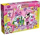 Lisciani Puzzle para niños de 60 piezas 2 en 1, Doble Cara con reverso para colorear - Disney Minnie 47918