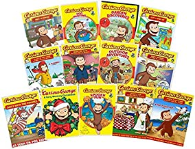 Ultimate Curious George 13-Movie PBS Kids Learning Collection: Back to School/Egg Hunting/Garden Discoveries/Gets a New Toy/Goes to the Doctor/Leads the Band/Outdoor Adventures/Robot Monkey/Sails with