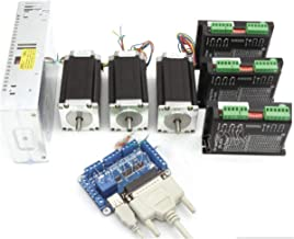 4 AxisNEMA23 1.8Nm Stepper Motor Drive Controller Power Supply Breakout CNC Mill