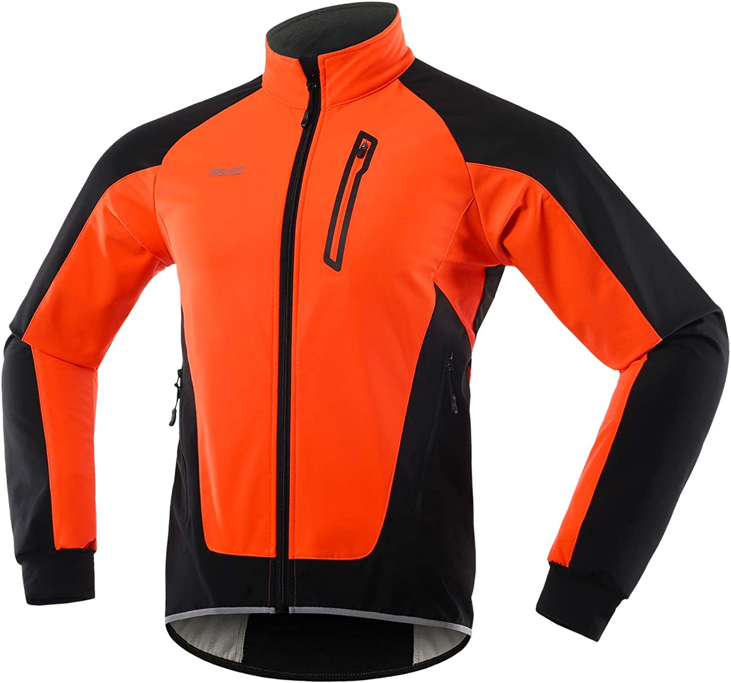 ARSUXEO Men's Winter lowest price Cycling Jacket MTB Thermal Fleece Soldering Softshell