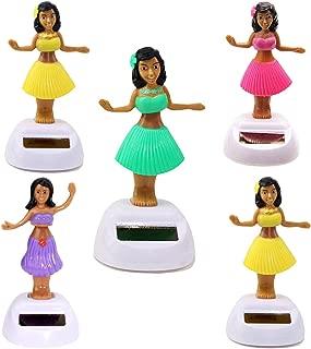 KT Set of 5 Solar Toy Hawaiian Aloha Luau Hula Girl Random Mixed Color