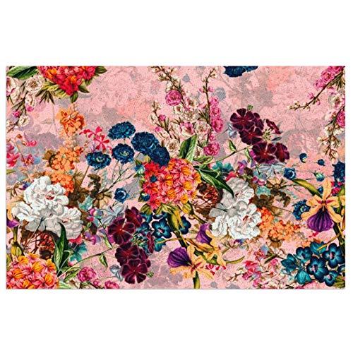 Felpudo de entrada para jardín botánico de verano XV, PVC, antideslizante, impermeable, para interiores y exteriores, alfombra de entrada, para decoración de casa de campo, porche de 39,7 x 59,9 cm