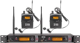 XTUGA RW2080 Rocket Audio Sistema de Monitor de oído inalámbrico de Metal, 2 Canales, 2 Bodypack Monitoreo con Auriculares...