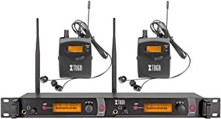XTUGA RW2080 Rocket Audio Whole Metal Wireless in Ear Monitor System 2 Channel 2 Bodypack Monitoring with in Earphone Wireless Type Used for Stage or Studio ¡