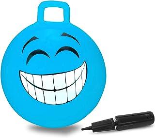 Jamara 460458 – Ballon Sauteur Smile Bleu 450mm 450mm-Favorise Le Sens de l'équilibre, Résistant, Entretien Facile
