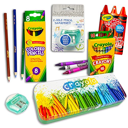 Crayola Colored Pencils and Crayons Set For Kids ~ 26 Pc Crayola...