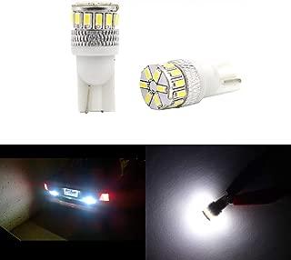 Super Bright T10 194 LED Bulb White 3014 18-SMD 12V LED 194 168 2825 175 W5W Bulb Wedge for License Plate Interior Map Dome Trunk Cargo Side Marker Light (Set of 2)