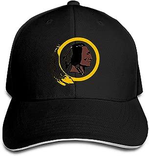 Washington Redskins Unisex Adjustable Sandwich Cap,Black