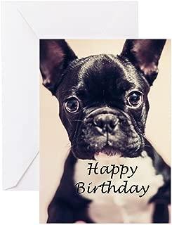 CafePress Birthday French Bulldog Greeting Card, Note Card, Birthday Card, Blank Inside Matte