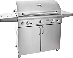 American Outdoor Grill 36 Inch Propane Gas Grill On Cart With Side Burner And Rotisserie Kit