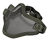 Fansport Half Face Mask Metal Net Mask Protective Airsoft Paintball Mesh Mask