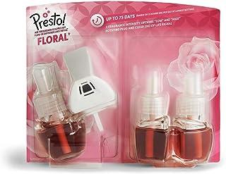 Amazon-merk - Presto! Luchtverfrisser Starter Kit Plug-In Diffuser en Refill (1 Diffuser en 3 Refill) - UK Plug - Pack van 3
