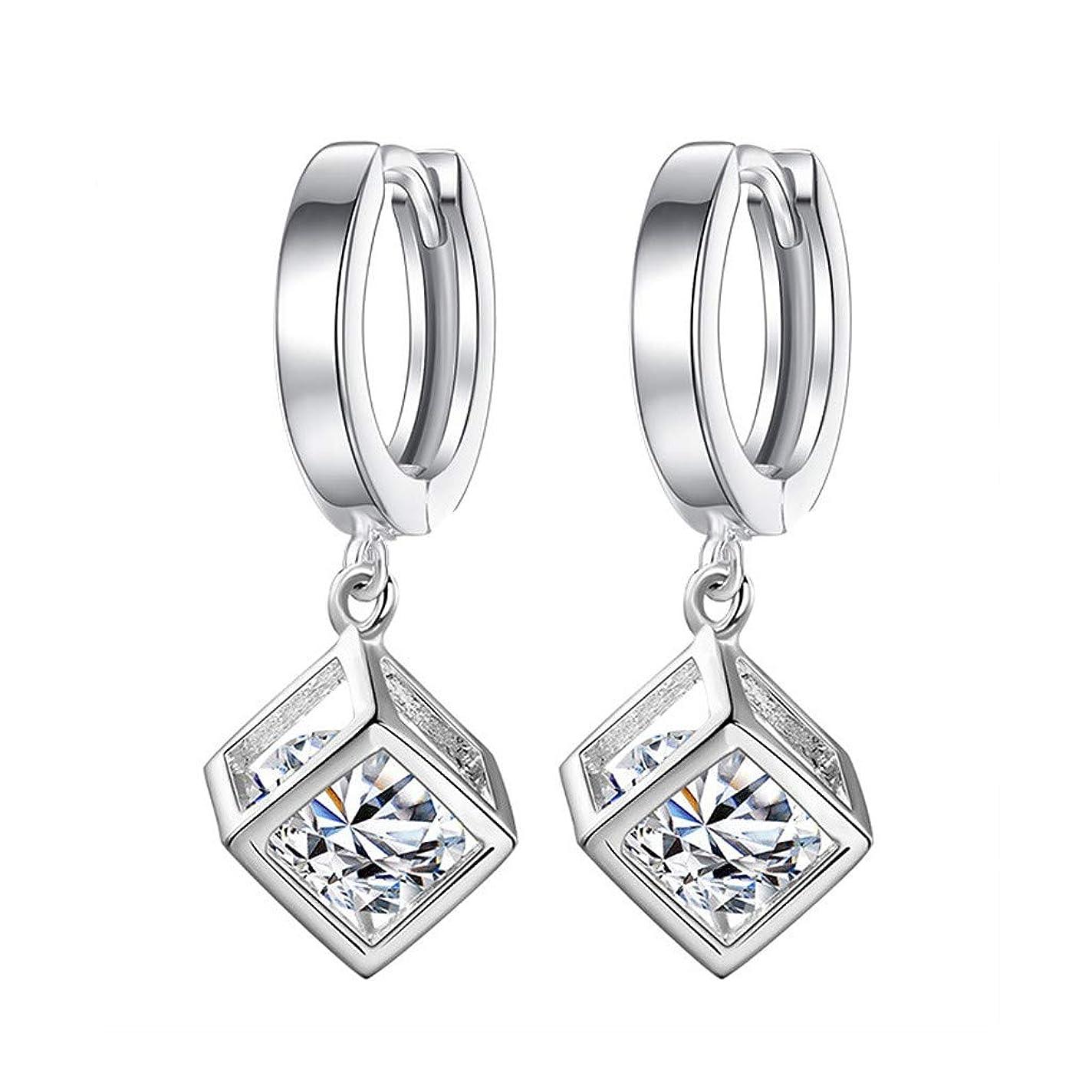 マトリックスドレス黒人Nicircle ファッション気質の女性キュービックジルコンの耳クリップ女性の耳の宝石類 Fashion Temperament Ladies Cubic Zircon Ear Clip Ladies Ear Jewelry