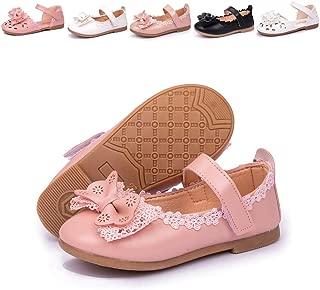 Meckior Toddler Kids Girl's Mary Jane Ballerina Flat Slip On Princess Dress Dance Party Sparkle Wedding Ballet School Uniform Church Shoes