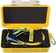eTayson Fiber Optic OTDR Launch Cable Box G652D Singlemode 9/125 SC/UPC-SC/APC Connector Dead Zone Eliminator Fiber Box (1000M)