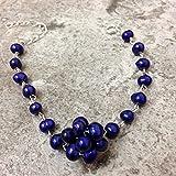 LOVEKUSH War6622 - Pulsera de cadena de plata de ley 925 con perlas cultivadas de agua dulce, 6/7 mm
