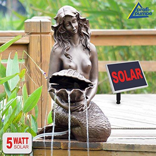"""FUENTE SOLAR EXTERIOR - FUENTE DECORATIVA """"Sirena"""" - FUENTE DE AGUA SOLAR - FUENTE SOLAR PARA JARDIN - FUENTE EN CASCADA - FUENTE DE AGUA DECORATIVA - """"Hermosa y Elegante fuente decorativa de Jardin en forma de bella sirena!"""" - Fuente solar para el jardín, estanque, terraza"""