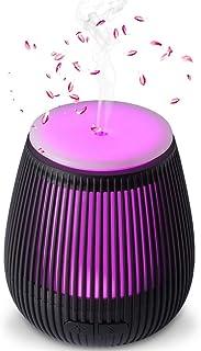 アロマディフューザー 超音波式 卓上 加湿器 アロマ 空焚き防止 7色LEDライト付き 小型 アロマライト 部屋 会社ヨガ対応 卓上加湿器 Beschoi