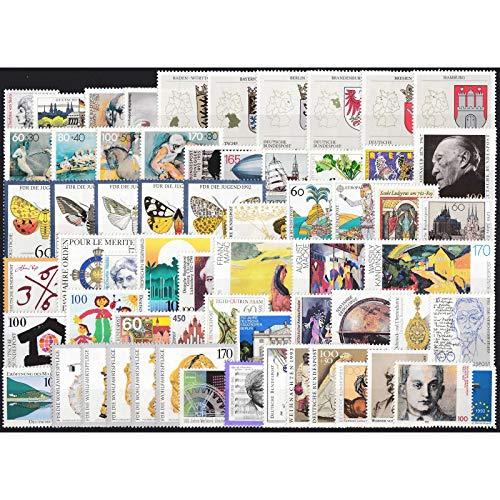 Goldhahn BRD Bund Jahrgang 1992 postfrisch ** MNH komplett Briefmarken für Sammler