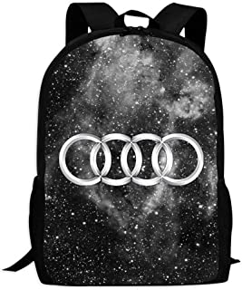 WESTFALL Galaxy Audi Car Logo Cute Backpack School Bag Book Bag for Boys Girls