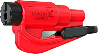 resqme The Original Keychain Car Escape Tool, Made in USA (Red)