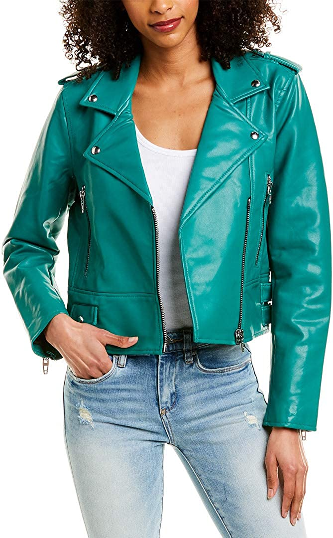 [BLANKNYC] womens Vegan Leather Moto Jacket