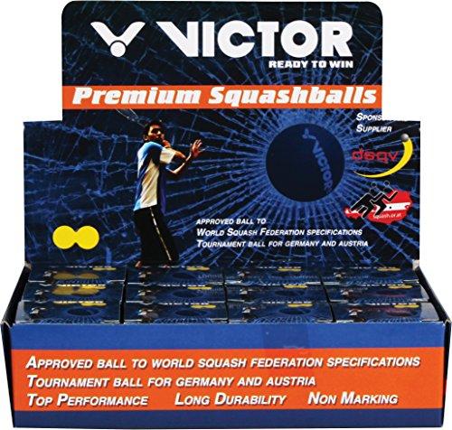 Victor Squashbälle 12er sehr langam , doppelgelb II