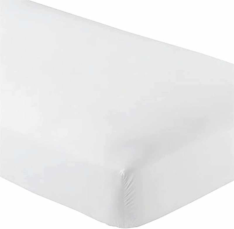 Knit Jersey 100 Cotton 2 Twin XL Fitted Bed Sheets 2 Pack Soft And Comfy Twin Extra Long 15 Deep Pocket 39 X 80 Great For Dorm Room Hospital And Split King Dual Adjustable Beds White