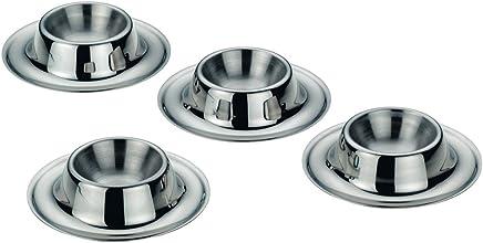 Preisvergleich für kela Eierbecher-Set Vision 4-teilig aus Edelstahl, Silber 9 x 9 x 3.5 cm