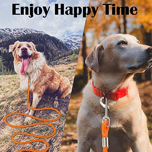 Segzwlor Long Dog Leash - 30ft, 50ft Reflective Training Heavy Duty Rope Dog Leash - Nylon Dog Lead Check Cord for Walking, Hunting, Camping, Running, etc. Easy Control for Small, Medium, Large Dogs
