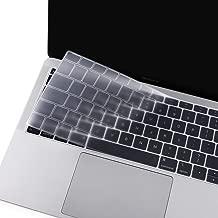 MOSISO Cubierta del Teclado Compatible 2019 2018 MacBook Air 13 A1932 Retina con Touch ID, Piel de Silicona Protectora Impermeable a Prueba de Polvo (EU Layout sin Alfabeto Impreso), Claro