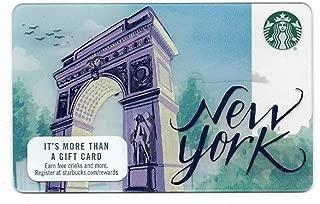 New York City Washington Square Park Arch Starbucks Gift Card Collectible No Value