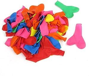 ينة الحفلات بالونات 100 قطعة مجموعة ألوان متنوعة شكل قلب شكل طائر مستديرة الشكل