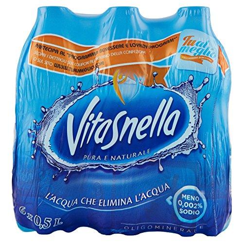 Vitasnella Acqua Oligominerale Naturale - Confezione da 6 x 500 ml