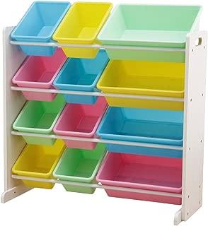 おもちゃ箱 ラック 4段 パステル 幅86.3×奥行34.8×高さ89.5cm THR-4P2