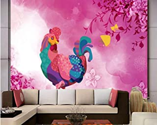 Mbwlkj Features Cute Cartoon Rooster Background Wall Mural 3D Custom Wallpaper Living Room Bedroom Decoration Mural-400cmx280cm